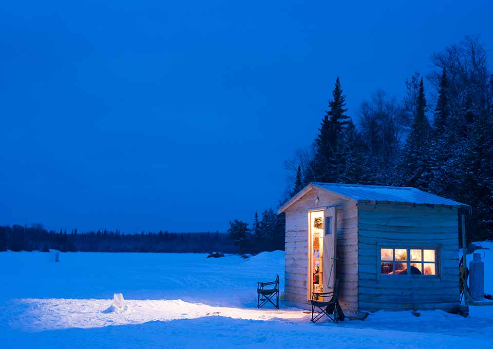 Ice Fishing In Northern Ontario Algoma Country