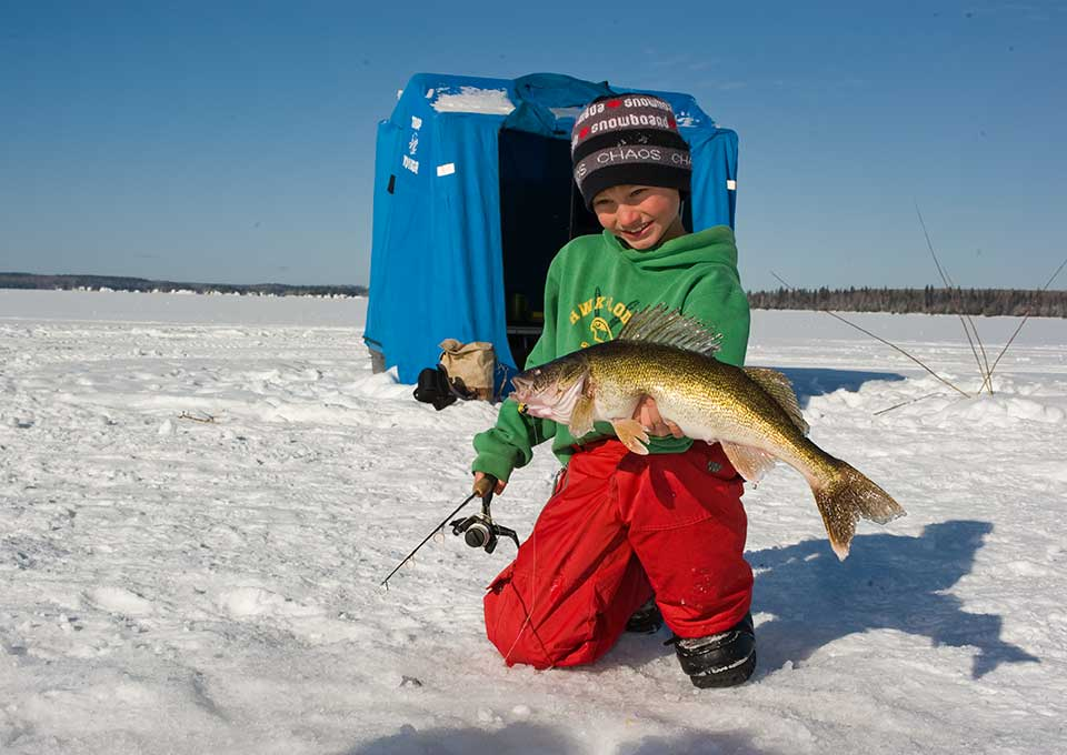 Ice Fishing in Northern Ontario - Algoma Country
