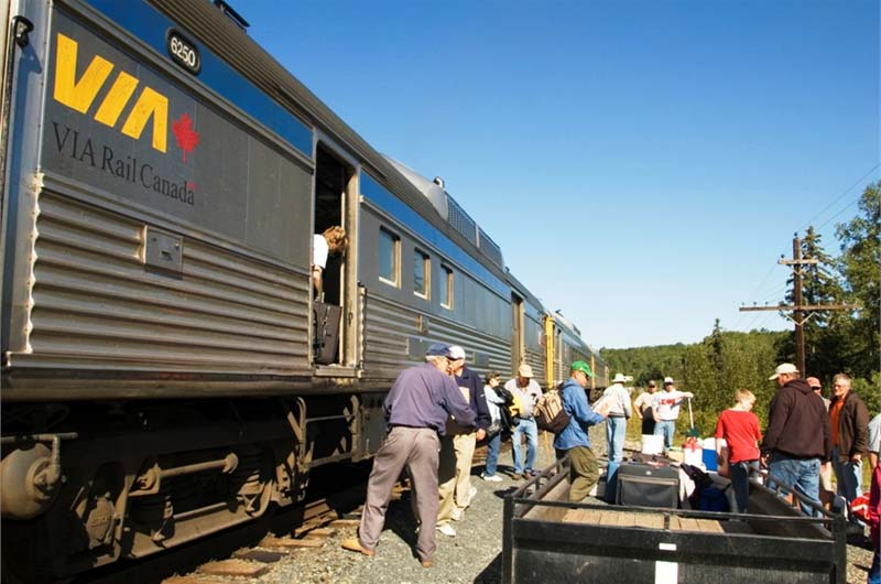 Mar Mac Lodge Train In Fishing From White River Northern