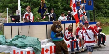 parade float with people