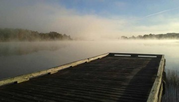 morning fog on the chapleau waterfront