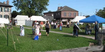 festival on the lawns of old stone house