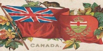 image of vintage canada flag
