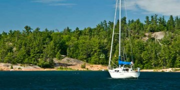sailboat in the North Channel of Lake Huron