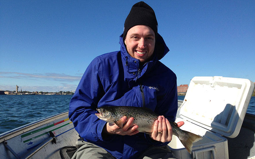 Fall fishing for steelhead in the st marys river sault for Algoma fishing charters